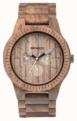 WeWood Mens kappa nut alça marrom de madeira 70315700