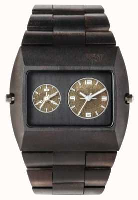 WeWood Mens jupiter rs bracelete de madeira preta 70331300