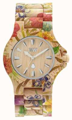 WeWood Womens data flor cinta de madeira bege 70221200