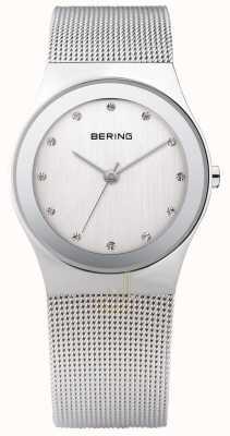 Bering Relógio de malha de prata da mulher 12934-000