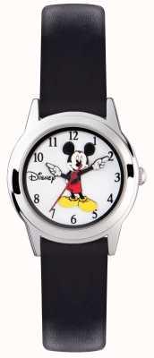 Disney Adult Estojo de prata Mickey mouse cinta preta MK1314