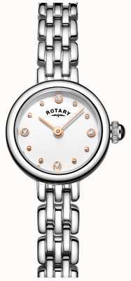 Rotary Elegante cocktail relógio de aço inoxidável da mulher LB05052/02
