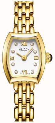 Rotary Relógio de cocktail feminino banhado a ouro LB05055/01