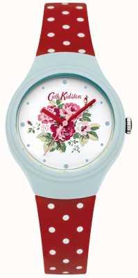 Cath Kidston Senhoras flor discagem relógio de bolinhas vermelhas CKL024UR