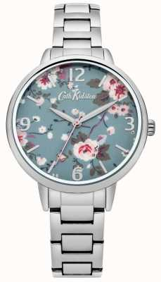Cath Kidston Cath kidston arrastando rosa pulseira de relógio de prata CKL001SM