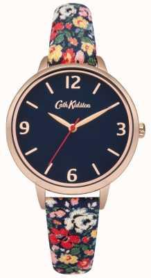 Cath Kidston Cath kidston mews ditsy relógio de pulseira de tecido da marinha CKL002URG
