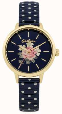 Cath Kidston Senhoras da marinha polka dot relógio richmond CKL009UG