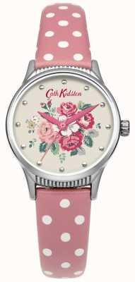 Cath Kidston Senhoras floresta monte rosa relógio de couro CKL012PS