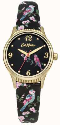 Cath Kidston Gráfico de pássaros impressos de base preta CKL013BG
