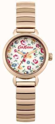 Cath Kidston Expansor em ouro rosa com mostrador impresso em foto CKL016RGM