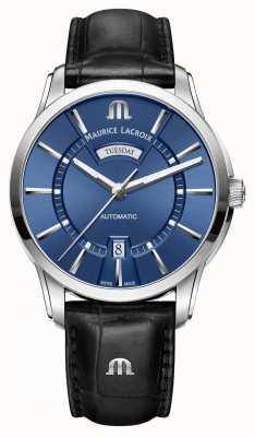 Maurice Lacroix Mens pontos automático azul PT6358-SS001-430-1