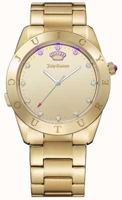 Juicy Couture Womans conectar tom de ouro de quartzo 1901500