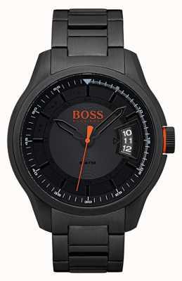 Hugo Boss Orange Relógio de aço inoxidável preto Hong Kong 1550005