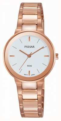 Pulsar Senhoras rosa banhado a ouro relógio PH8290X1