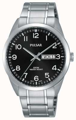 Pulsar Relógio clássico em aço inoxidável para homem PJ6063X1