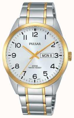 Pulsar Gents dois tom relógio PJ6064X1