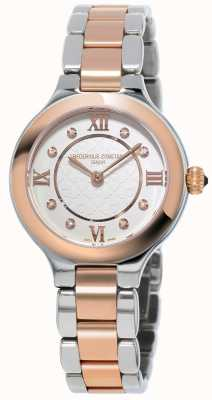 Frederique Constant Os clássicos da mulher deliciam aço rosa banhado a ouro FC-200WHD1ER32B