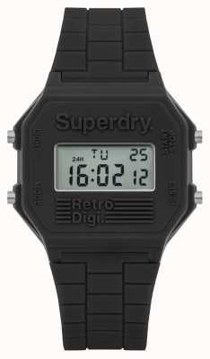 Superdry Mens retro digi cinza silicone SYG201E