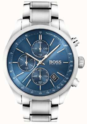 Boss Mens grand prix de aço inoxidável mostrador azul 1513478