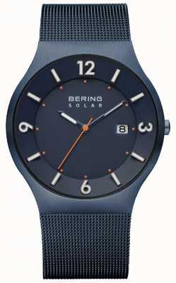 Bering Mens cinta de malha milanese azul solar 14440-393