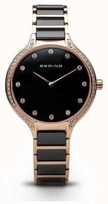 Bering Relógio preto de zircônia eramic de senhoras 30434-746