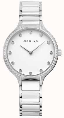 Bering Conjunto de zircônia cerâmica branca de senhora 30434-754