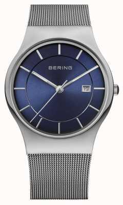 Bering Mens milanese malha cinta azul face assistir 11938-003