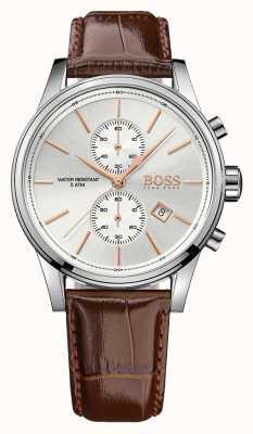 Hugo Boss Gents jet marrom couro chrono ex display 1513280EX-DISPLAY
