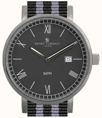 Smart Turnout Relógio do condado - preto com bracelete da OTAN STK1/BK/56/W