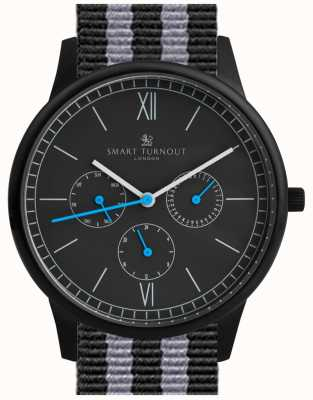 Smart Turnout Time watch - preto com pulseira da OTAN STK2/BK/56/W