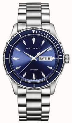 Hamilton Mens jazzmaster seaview day date azul H37551141