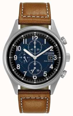 Citizen Mens eco-drive azul cronógrafo Chandler CA0621-05L