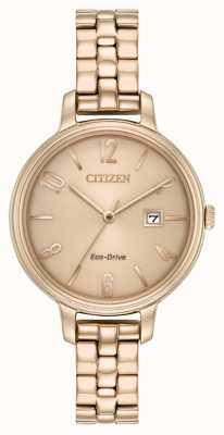 Citizen Mulher eco-drive rose gold chandler EW2443-55X