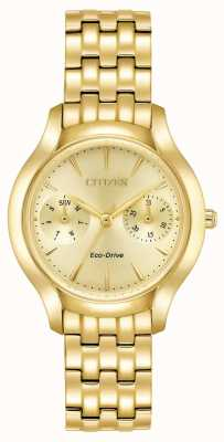Citizen Womans eco-drive silhueta ouro de chandler FD4012-51P