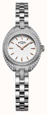 Rotary Pulseira de pedra da mulher petite conjunto de prata LB05087/02