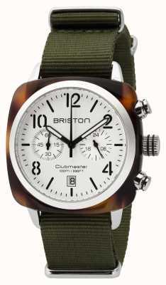 Briston Mens clubmaster clássico acetato chrono tartaruga branco 16140.SA.T.2.NGA