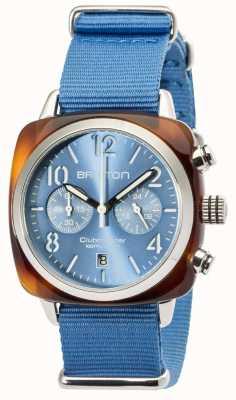 Briston Mens clubmaster clássico acetato chrono tartaruga cinza 16140.SA.T.14.NLB