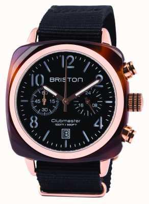 Briston Mens clubmaster classic acetato crono preto 14140.PRA.T.1.NB