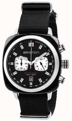 Briston Mens clubmaster sport acetato crono preto 17142.SA.BS.1.NB