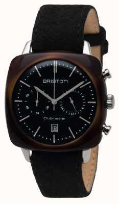 Briston Mens clubmaster vintage acetato chrono tartaruga preto 16140.SA.TV.1.LFB