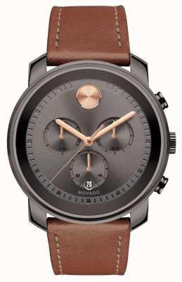 Movado Relógio de homem em negrito com marcação em cinzento 3600421