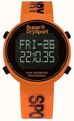 Superdry Correia de silicone laranja unisex digi pedômetro SYG203O
