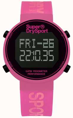 Superdry Correia de silicone rosa unisex digi pedômetro SYL203P