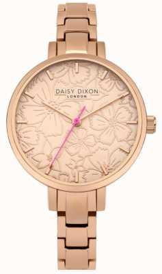 Daisy Dixon Leona mulher estampa floral dial ouro rosa DD043RGM