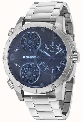 Police Mens cascavel blue dial aço inoxidável 14699JS/02M
