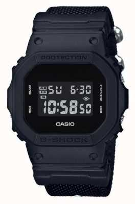 Casio Mens g-shock black out pulseira de pano DW-5600BBN-1ER