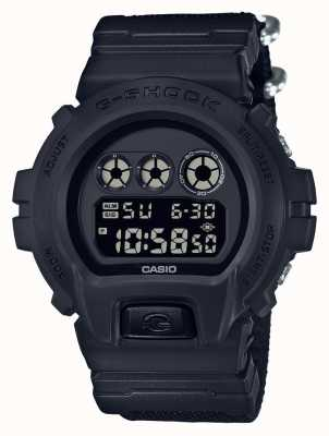 Casio Mens g-shock black out pulseira de pano DW-6900BBN-1ER