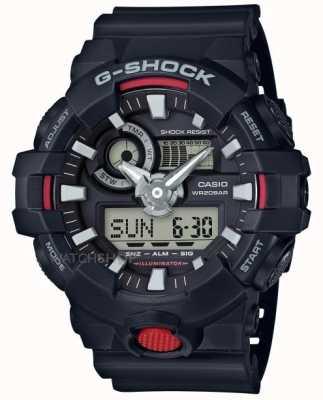 Casio Mens g-shock alarm cronógrafo preto GA-700-1AER