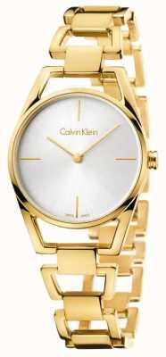 Calvin Klein O delicado pvd em ouro amarelo da mulher K7L23546