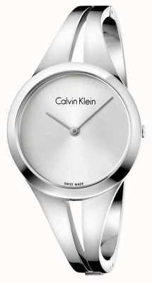 Calvin Klein Womans viciado em aço inoxidável pulseira de prata K7W2S116